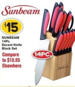 Sunbeam 14PC Durant Knife Block Set