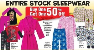 Entire Stock of Men's Sleepwear