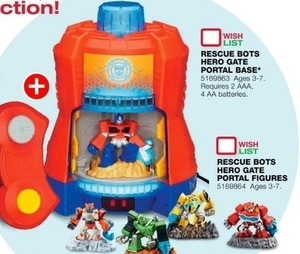 Rescue Bots Hero Gate Portal Figures