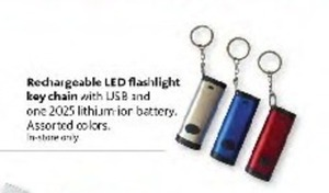 Rechargeable LED Flashlight Keychain w/ USB