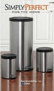Simply Perfect For The Home Round Pedal Bin 3pc
