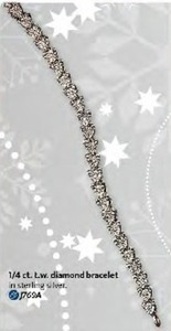 Sterling Silver Diamond Bracelet 1/4ct