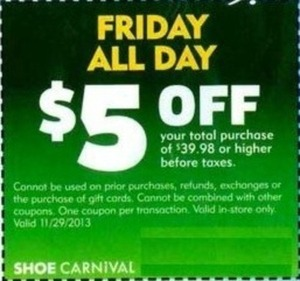 Shoe Carnival Coupon - Friday All Day