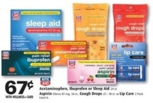 Select Rite Aid Brand Medicine w/ Wellness+ Card