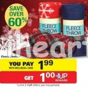 Fleece Throws w/ Wellness+ Card