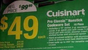 Cuisinart Pro Classic Nonstick Cookware Set After Rebate