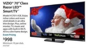 """Vizio 70"""" Class Razor LED HDTV - E7011-A3E"""