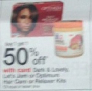Dark & Lovely, Let's Jam, Or Optimum Hair Dye or Hilighter Kit w/ Card