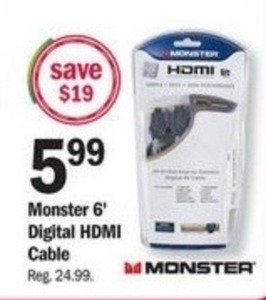 Monster 6' Digital HDMI Cable