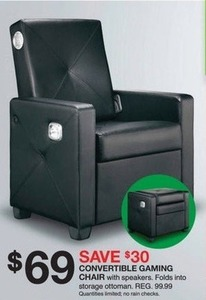Convertible Gaming Chair w/ Speakers
