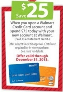Open a Walmart Credit Card