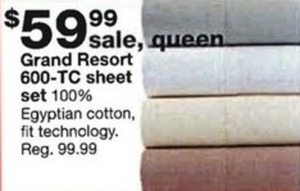 Grand Resort 600TC Egyptian Cotton Sheet Set - Queen
