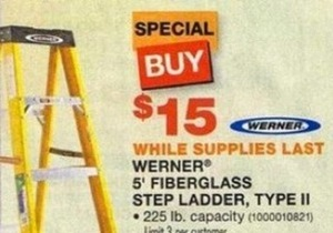 Werner 5' Fiberglass Step Ladder Type II
