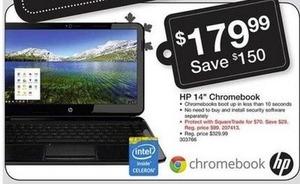 """HP 14"""" Chromebook w/ Intel Celeron CPU"""