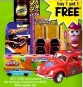 Select Hot Wheels, Play-Doh and Other Toys