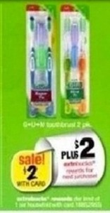 G-U-M Toothbrush 2pk + $2 ExtraBucks