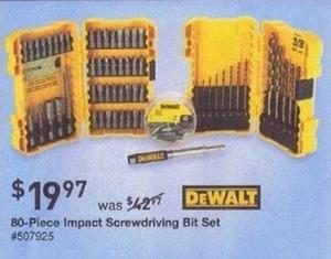 DEWALT 80-Piece Impact Screwdriver Bit Set