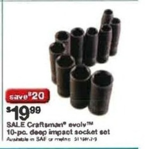Craftsman Evolv 10 pc. Deep Impact Socket Set