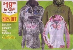 Select Men's and Women's Cabela's Logo Hoodies