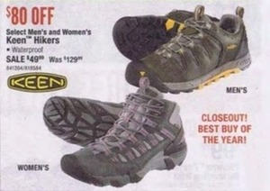 Select Men's & Women's Keen Hikers