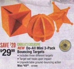 Do-All Mini 3-Pack Bouncing Targets
