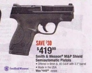 Smith & Wesson M&P Shield Semiautomatic Pistols