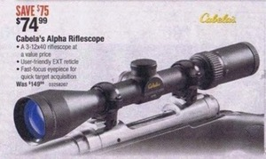 Cabela's Alpha Riflescope