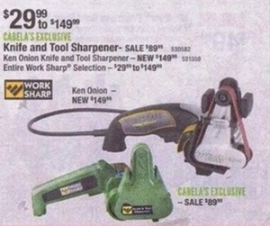 Entire Work Sharp Selection & Tool Sharpeners