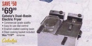 Dual Basin Electric Fryer