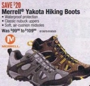 Merrell Yakota Hiking Boots