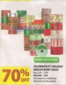 Celebrate IT Holiday Ribbon Bow-Tique
