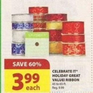 Celebrate It Holiday Great Value Ribbon