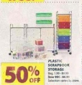 Plastic Scrapbook Storage
