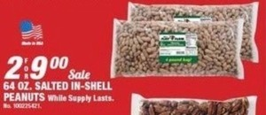 64 oz Salted In-Shell Peanuts