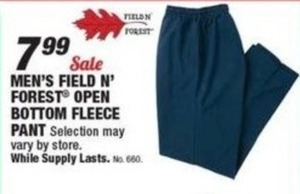 Men's Field n' Forest Open Bottom Fleece Pant