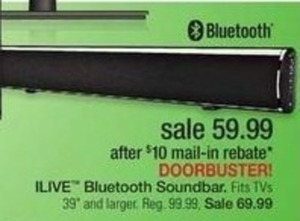 iLive Bluetooth Soundbar w/ Rebate
