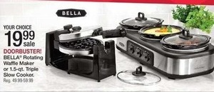 Bella Rotating Waffle Maker or 1.5-qt. Triple Slow Cooker