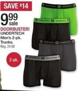 Undertech Men's 2-Pk. Trunks