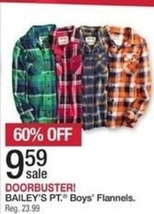 Bailey's Pt. Boys' Flannels