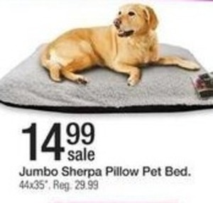 Jumbo Sherpa Pillow Pet Bed