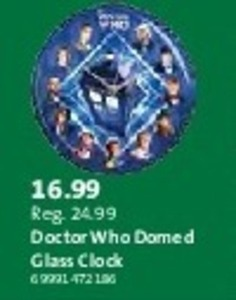 Doctor Who Domed Glass Clock