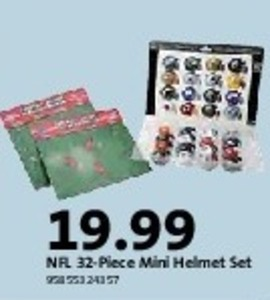 NFL 32PC Mini Helmet Set