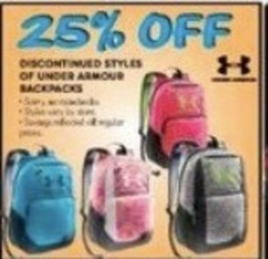 Discontinued Styles of Under Armour Backpacks
