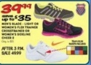 Men's Blade Light, Women's Flex Trainer Crosstrainer or Sideline Cheer 2 Shoes