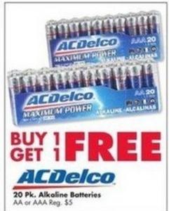 AC Delco 20pk Alkaline Batteries