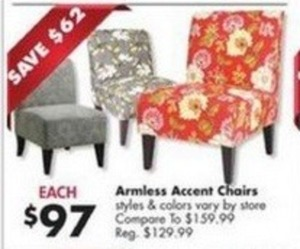 Armless Accent Chairs