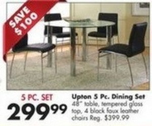 Upton 5PC Dining Set