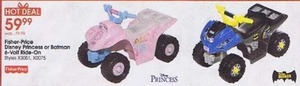 Fisher-Price Disney Princess or Batman 6-Volt Ride-On
