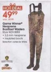 Game Winner Neoprene Boatfoot Waders