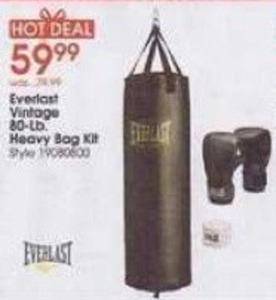 Everlast Vintage 80-lb. Heavy Bag Kit